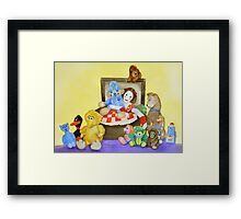 Mime in ToyBox Framed Print