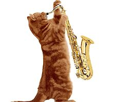 Saxophone Cat - Meowsicians by StrawberryMo