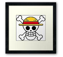 Luffy Logo Framed Print