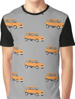 Renault 4 GTL in Orange Graphic T-Shirt