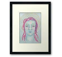 Meditating Girl Framed Print