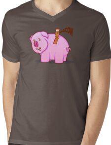 Bacon Pig Mens V-Neck T-Shirt