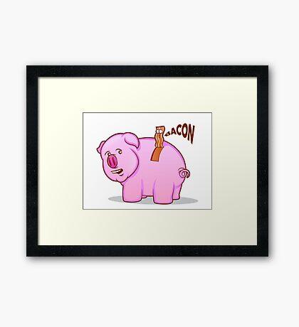 Bacon Pig Framed Print