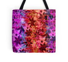 Abstract Art Retro Trendy Floral Pattern Tote Bag