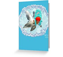 """Mozart and Marie """" A Queen in a Fish Bowl"""" Greeting Card"""
