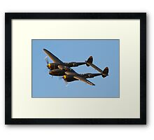 The United States Army Air Corps P-38 Lightning Framed Print