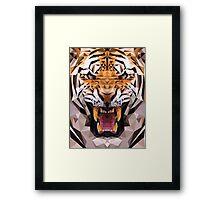 Raw tiger Framed Print