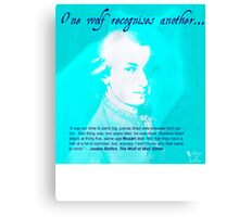 """Mozart and Marie """"One Wolf to Another"""" Canvas Print"""