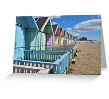 Beach huts at West Mersea Greeting Card