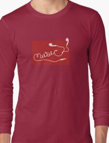 Music Earbuds Long Sleeve T-Shirt