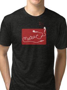 Music Earbuds Tri-blend T-Shirt