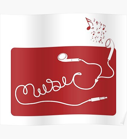 Music Earbuds Poster