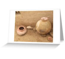 Rural area home interier 5 Greeting Card