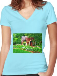COUNTRY COTTAGE 40D Women's Fitted V-Neck T-Shirt