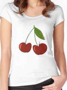 Cerises Women's Fitted Scoop T-Shirt