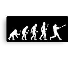 Baseball Evolution Funny T Shirt Canvas Print