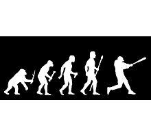 Baseball Evolution Funny T Shirt Photographic Print