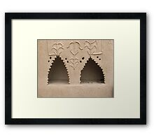 Rural area home interier 3 Framed Print