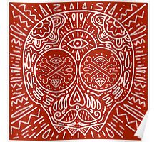 Scull illustration hipster Poster