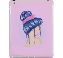 Purple Hair and a Flower Crown iPad Case/Skin
