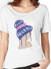 Purple Hair and a Flower Crown Women's Relaxed Fit T-Shirt