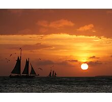 Sunset Sail in Key West III Photographic Print