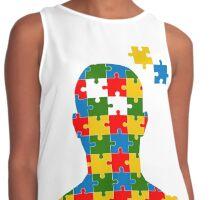 puzzle head design Contrast Tank