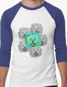 Lion / Löwe version 3 Men's Baseball ¾ T-Shirt