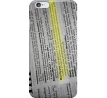 the verb is to macgyver iPhone Case/Skin