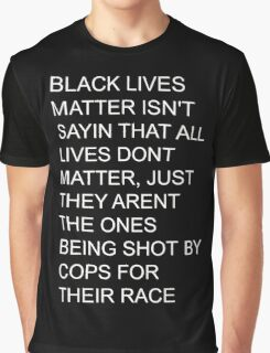 BLACK LIVES MATTER white text Graphic T-Shirt