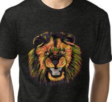 Lion / Löwe version 5 Tri-blend T-Shirt