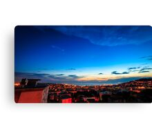 sunset on the city of Trieste Canvas Print