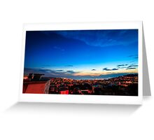 sunset on the city of Trieste Greeting Card