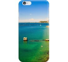 summer day at the beach in the gulf of Trieste iPhone Case/Skin