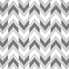 Grey & White Herringbone Chevron by Tangerine-Tane