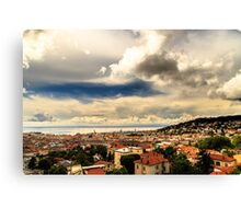storm over the city of Trieste Canvas Print