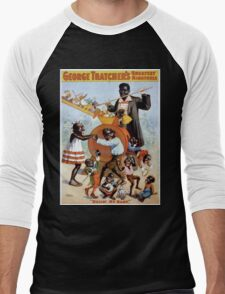 Performing Arts Posters George Thatchers Greatest Minstrels 2766 Men's Baseball ¾ T-Shirt