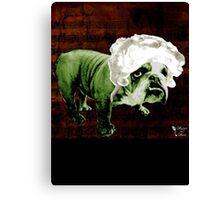 "Mozart and Marie ""Bulldog Composer"" Canvas Print"