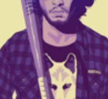 Hipster Jon Snow Sticker
