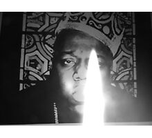 notorious BIG spits fire Photographic Print