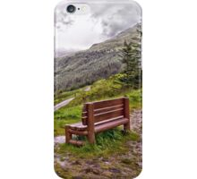 A bench with a view iPhone Case/Skin