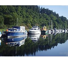 Boats on the Caledonian Canal Photographic Print
