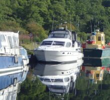 Boats on the Caledonian Canal Sticker