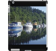 Boats on the Caledonian Canal iPad Case/Skin