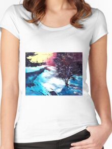 Icy Morning Women's Fitted Scoop T-Shirt