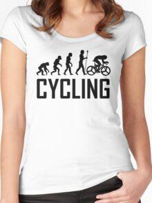 Biking Evolution Women's Fitted Scoop T-Shirt