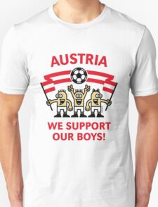 We Support Our Boys! (Austria / Fußball) T-Shirt