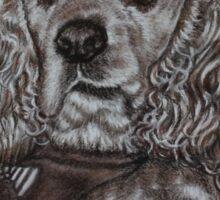 Dog portrait in sepia Sticker