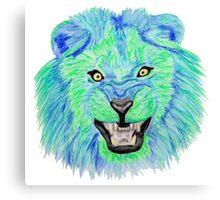 Lion / Löwe version 10 Canvas Print