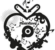 Music is Love by boardingtheark